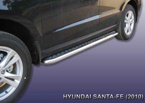 HYUNDAI SANTA-FE (2010)-Пороги d57 с листом